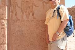 En el Templo de Abu Simbel, Egipto, 2008