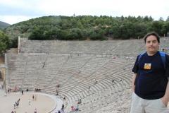 En el teatro de Epidauro, Grecia, 2010