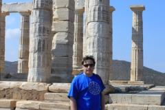 En el templo del Cabo Sounion, Grecia, 2010