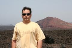 En el Parque Nacional de Timanfaya, Lanzarote, 2006