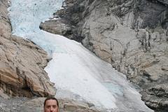 En el Parque Nacional de los Glaciares, Noruega, 2009