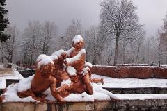 Palacio Real de la Granja de San Ildefonso, fuentes nevadas