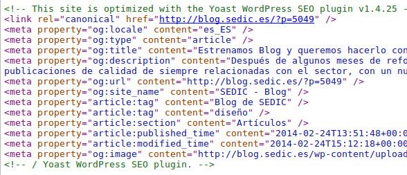 Cómo no lanzar un blog: el caso de SEDIC