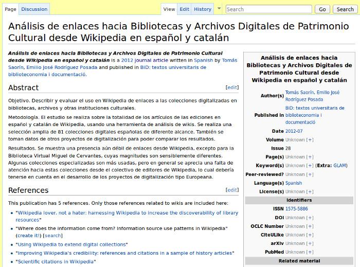 Algunos colegas en WikiPapers...