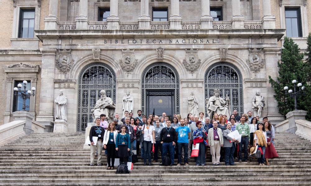 Participantes en el WikiEditatón Madrid 2014, BNE (Foto CC Carlos Delgado)