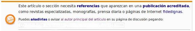 Plantilla Referencias en Wikipedia ES
