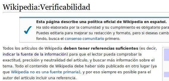 Política de Verificabilidad en Wikipedia ES