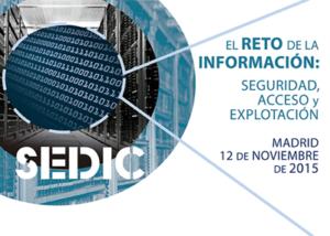 En la XVII Jornada de Gestión de la Información de SEDIC